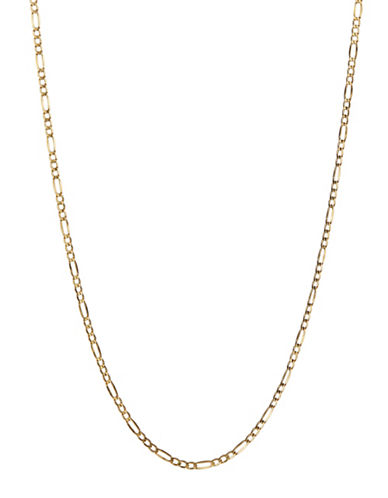 Fine Jewellery 10K Yellow Gold Figaro Necklace-YELLOW GOLD-One Size