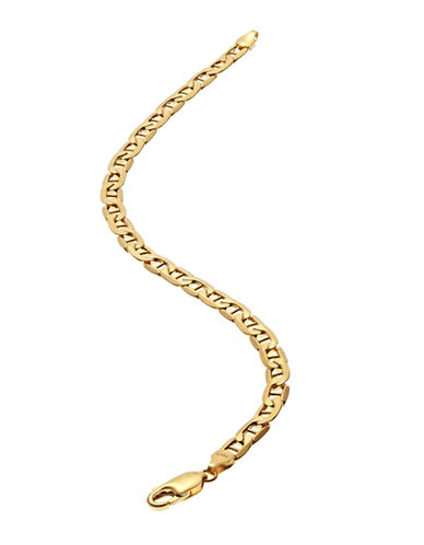Fine Jewellery Mens 10K Yellow Gold Curb Bar Bracelet-YELLOW GOLD-One Size