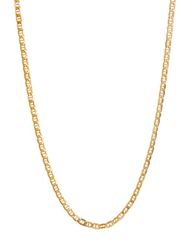 Fine Jewellery Mens 10K Yellow Gold Mariner Link Chain-YELLOW GOLD-One Size