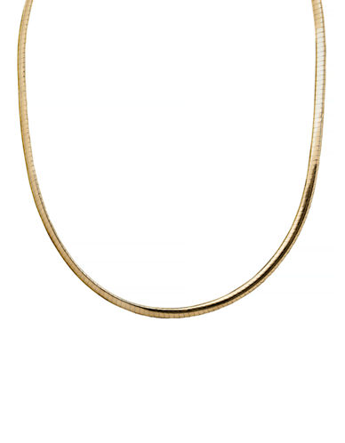 Fine Jewellery Avolto Omega Necklace-YELLOW GOLD-One Size