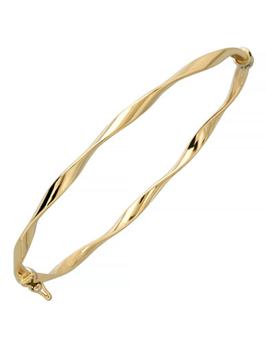 Fine Jewellery 14K Yellow Gold Polished Twisted Bangle-YELLOW GOLD-One Size