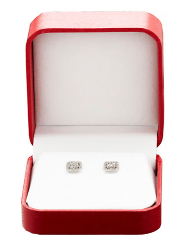 Fine Jewellery Button 0.20TCW Diamond Cluster Earrings Box Set-DIAMOND-One Size