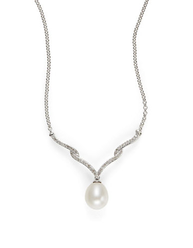 Fine Jewellery Freshwater Pearl Diamond Necklace Box Set-PEARL-One Size