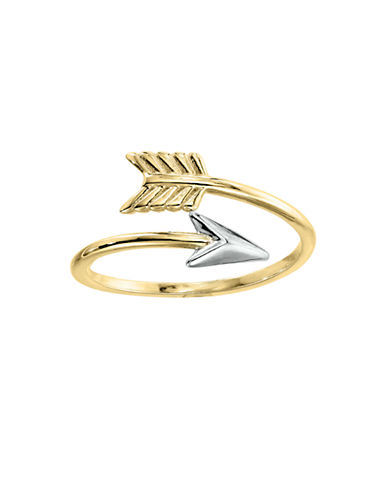 Fine Jewellery 14KY Swirl Arrow Ring-YELLOW GOLD-7