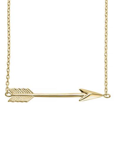 Fine Jewellery 14KY Arrow Necklace-YELLOW GOLD-One Size