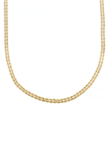 Fine Jewellery 10KY Rope Chain Necklace-YELLOW GOLD-One Size