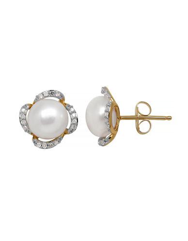 Fine Jewellery 14K Pearl Earring-WHITE-One Size