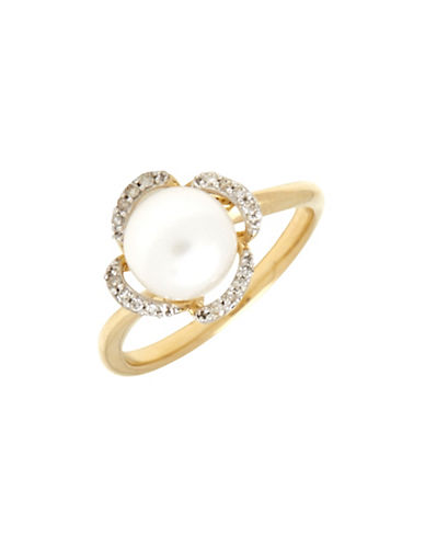 Fine Jewellery 14K Pearl Ring-WHITE-7