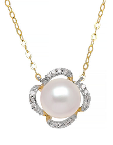 Fine Jewellery 14K Pearl Necklace-WHITE-One Size