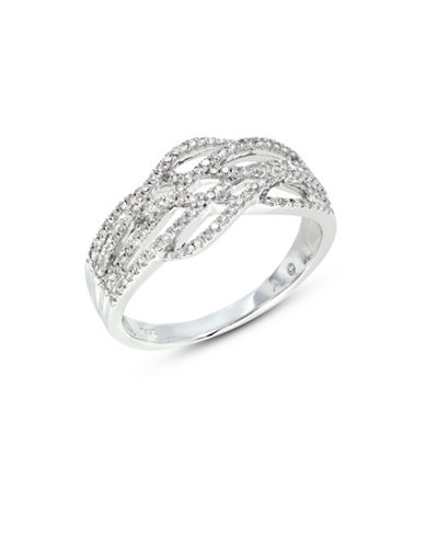 Fine Jewellery 14k White Gold Pave Diamond Lattice Ring-DIAMOND-7