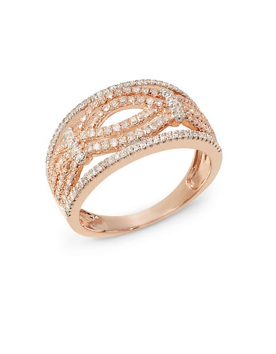Fine Jewellery 0.5tcw Diamond 14k Rose Gold Ring-ROSE GOLD-7