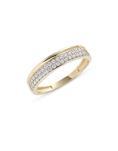 Fine Jewellery Yellow Gold Pave Stone Ring-CUBIC ZIRCONIA-7