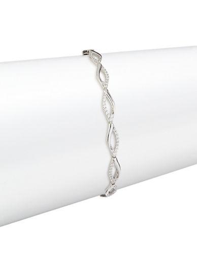 Fine Jewellery 14K White Gold Pave Infinity Bracelet-CUBIC ZIRCONIA-One Size