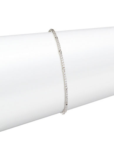 Fine Jewellery 14K White Gold Pave Hinged Link Bracelet-CUBIC ZIRCONIA-One Size