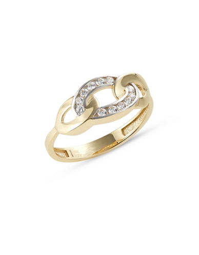 Fine Jewellery Chain Link Angled Pave Ring-CUBIC ZIRCONIA-7
