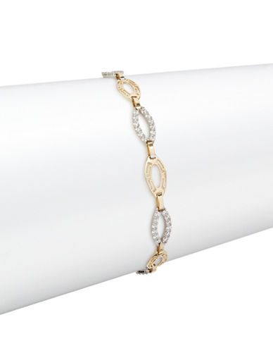 Fine Jewellery Two-Tone 14K Gold Pave Marquis Bracelet-CUBIC ZIRCONIA-One Size
