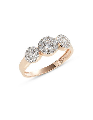 Fine Jewellery Rose Gold Circles Ring-CUBIC ZIRCONIA-7