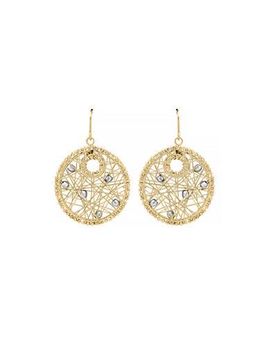Fine Jewellery 14K Yellow Gold Beaded Web Drop Earrings-GOLD-One Size