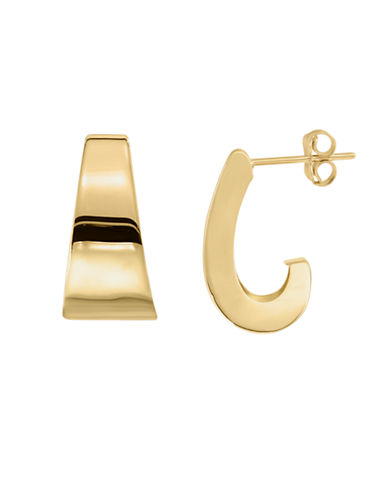 Fine Jewellery 14K Yellow Gold J Hoop Earrings-YELLOW GOLD-One Size
