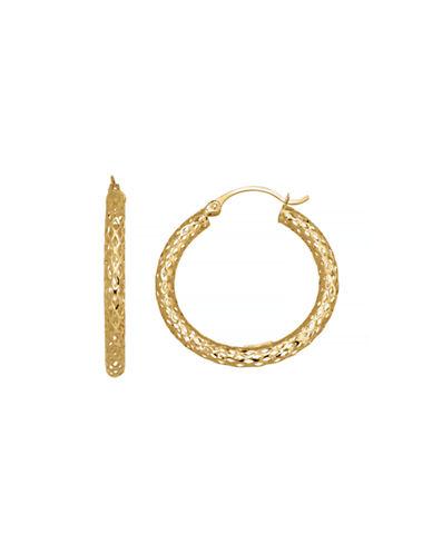 Fine Jewellery 14K Yellow Gold Mesh Hoop Earrings-YELLOW GOLD-One Size