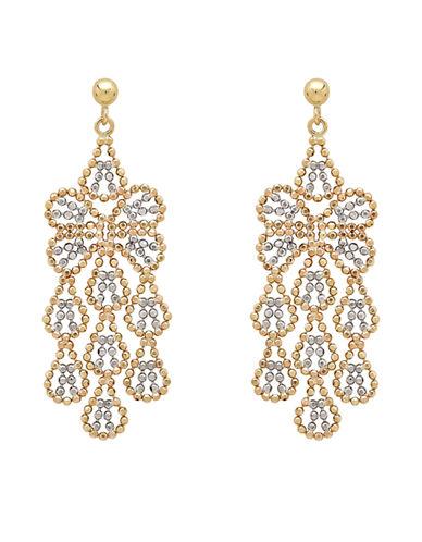 Fine Jewellery 14K Yellow Gold Beaded Chandelier Earrings-GOLD-One Size