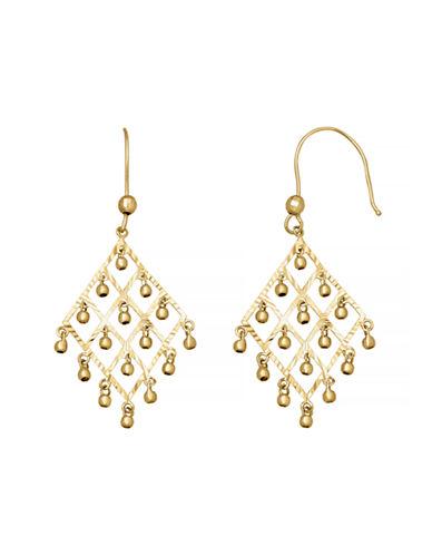 Fine Jewellery 14K Diamond-Shaped Chandelier Earrings-YELLOW GOLD-One Size
