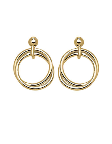 Fine Jewellery 14k Yellow Gold Interlocked Circle Drop Earrings-YELLOW GOLD-One Size