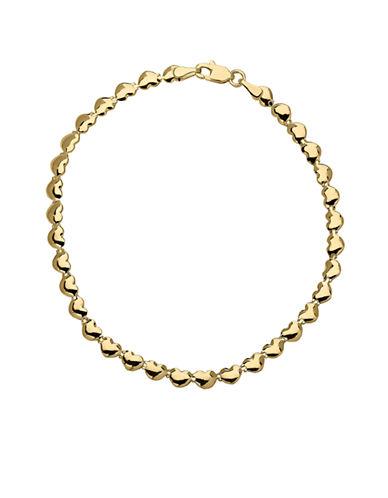 Fine Jewellery 14k Yellow Gold Heart Bracelet-YELLOW GOLD-One Size