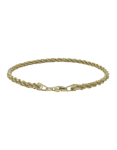 Fine Jewellery 14K Yellow Gold Twist Rope Bracelet-YELLOW GOLD-One Size