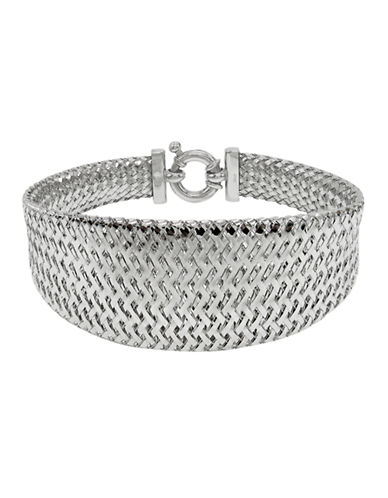 Fine Jewellery 14K White Gold Basketweave Bracelet-WHITE GOLD-One Size