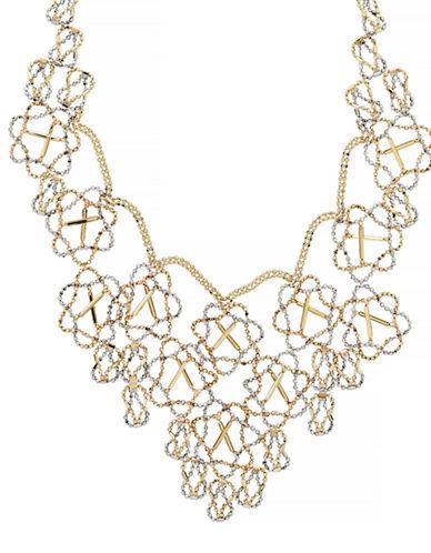 Fine Jewellery 14k Two-Tone Beaded Fancy Necklace-GOLD-One Size