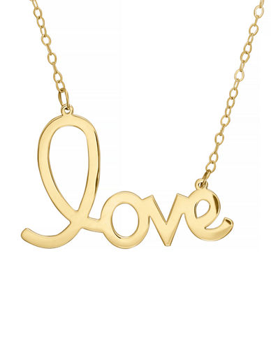 Fine Jewellery 14k Yellow Gold Love Necklace-YELLOW GOLD-One Size