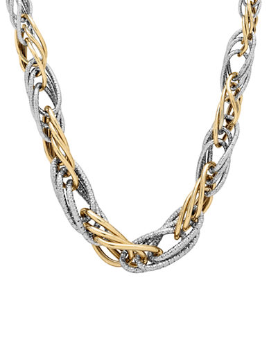 Fine Jewellery 14k Two-Tone Gold Layered Links Necklace-GOLD-One Size