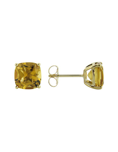 Fine Jewellery 14k Yellow Gold Citrine Earrings-CITRINE-One Size