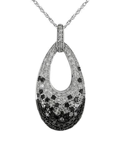 Fine Jewellery 14K White Gold and Two-Tone Diamond Teardrop Necklace-DIAMOND-One Size