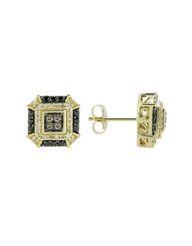Fine Jewellery 14k Yellow Gold and 0.5 CT Diamond Earrings-DIAMOND-One Size