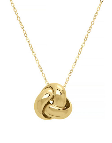 Fine Jewellery 14K Yellow Gold Knot Necklace-YELLOW GOLD-One Size