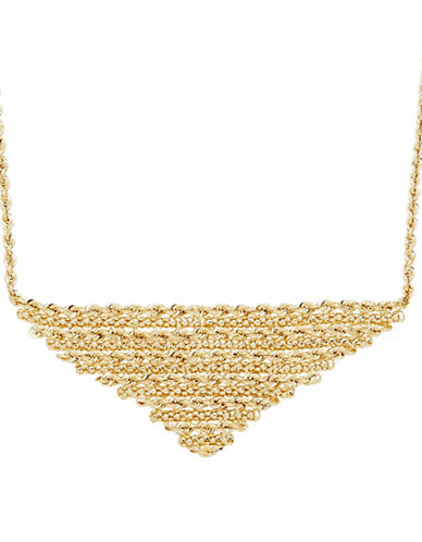 Fine Jewellery 14K Yellow Gold Triangle Pendant Necklace-YELLOW GOLD-One Size