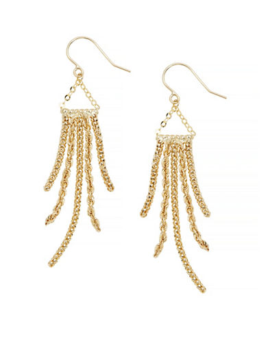 Fine Jewellery 14K Yellow Gold Dangle Earrings-YELLOW GOLD-One Size