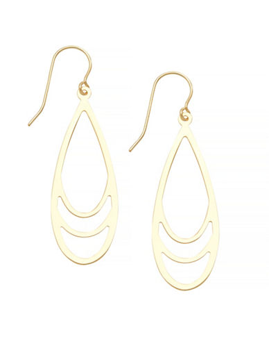 Fine Jewellery 14K Yellow Gold Open Teardrop Earrings-YELLOW GOLD-One Size