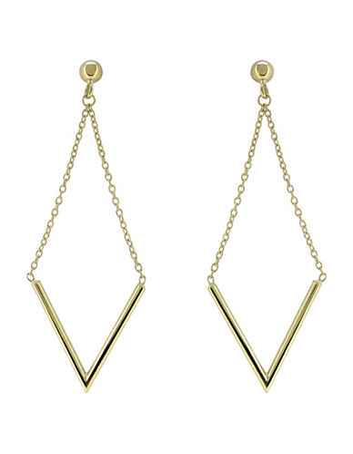 Fine Jewellery 14K Yellow Gold Earrings-YELLOW GOLD-One Size