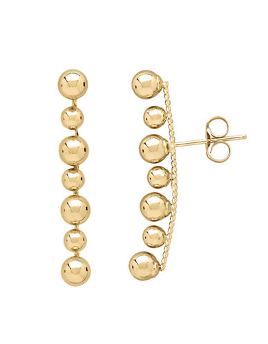 Fine Jewellery 14K Gold Bead Earrings-YELLOW GOLD-One Size