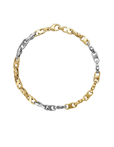 Fine Jewellery Two-Tone 14K Gold Link Bracelet-TWO TONE GOLD-One Size