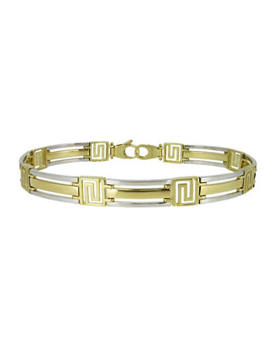 Fine Jewellery Two-Toned 14K Gold Link Bracelet-TWO TONE GOLD-One Size
