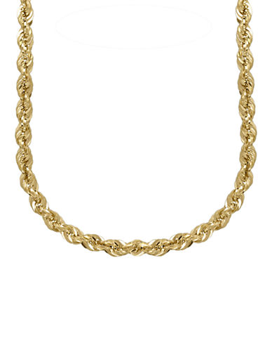 Fine Jewellery 14K Gold Rope Chain-YELLOW GOLD-One Size