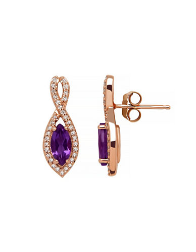 Town & Country 14K Rose Gold Amethyst Earrings-AMETHYST-One Size