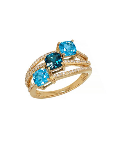 Town & Country 14K Yellow Gold Topaz Ring-BLUE TOPAZ-7