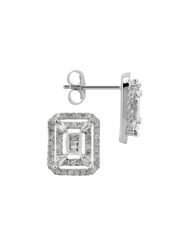 Fine Jewellery 14K White Gold Stud Earrings with 0.37 Total Carat Weight Diamonds-DIAMOND-One Size