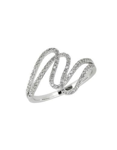Fine Jewellery 14K White Gold Ring with 0.25 Total Carat Weight Diamonds-DIAMOND-7