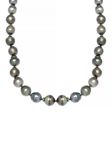 Fine Jewellery 8MM-11MM Pearl Sterling Silver Necklace-TAHITIAN PEARL-One Size